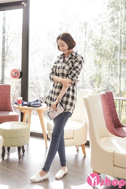 Áo sơ mi nữ dáng rộng đẹp Hàn Quốc phong cách sành điệu - Hình 8