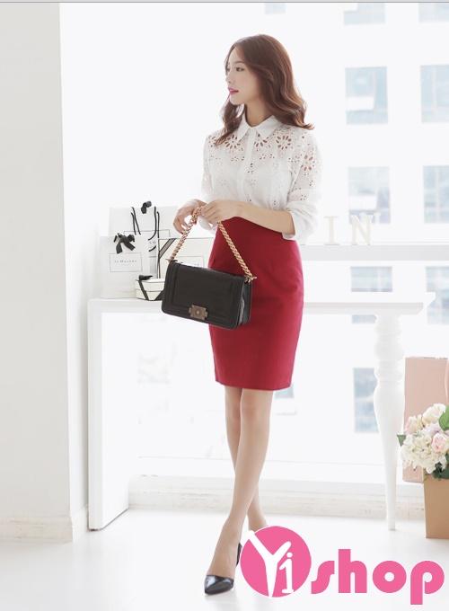 Áo sơ mi nữ trắng cách điệu đẹp cho cô nàng mập béo 2019 - Hình 5