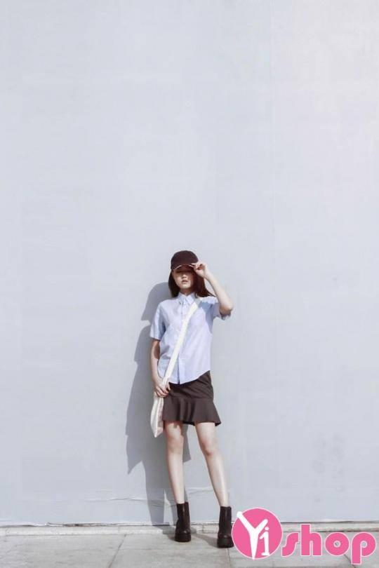 Kiểu thời trang hàn quốc áo sơ mi nữ đẹp đang dẫn đầu xu thế năm nay - Hình 11