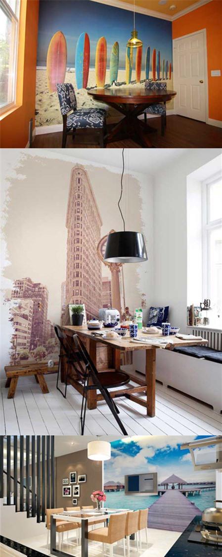 Thay đổi phong cách căn hộ bằng những bức tranh tường - Hình 2