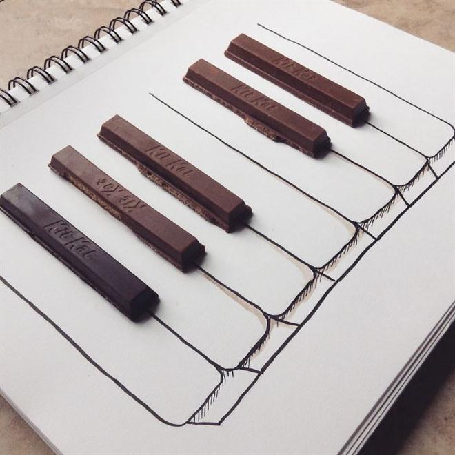 Nam sinh 17 tuổi sáng tạo tranh độc đáo từ thức ăn - Hình 6