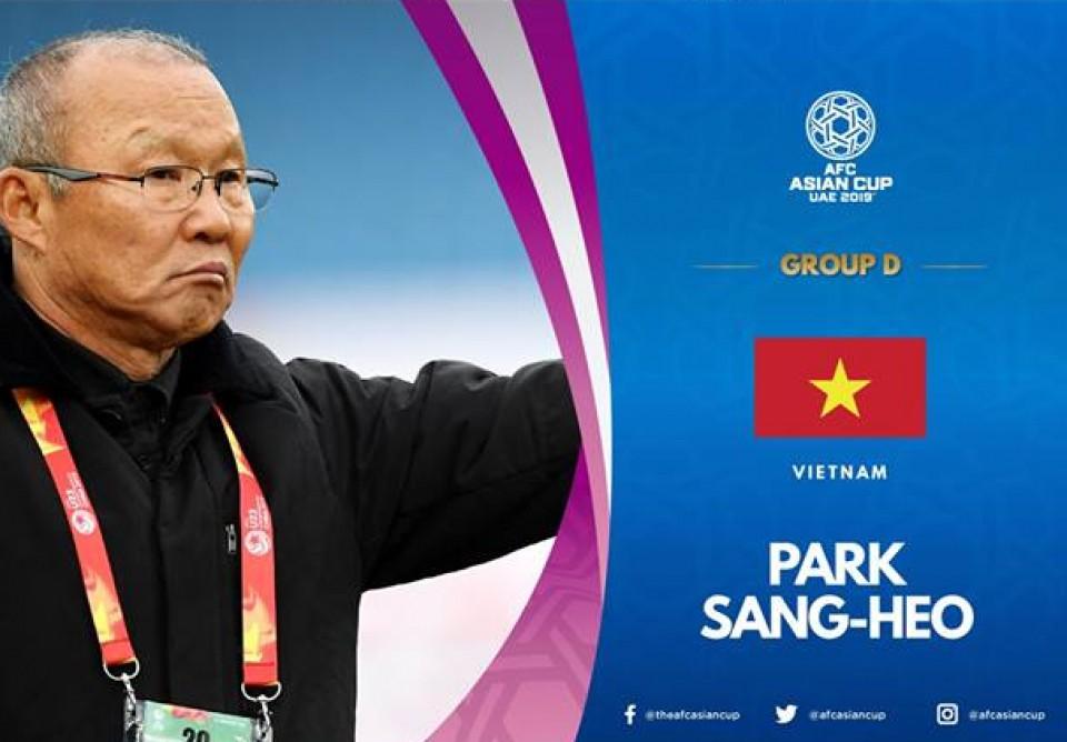 Twitter Liên đoàn bóng đá châu Á sáng chế ra cái tên mới cho HLV Park Hang-seo - Hình 1