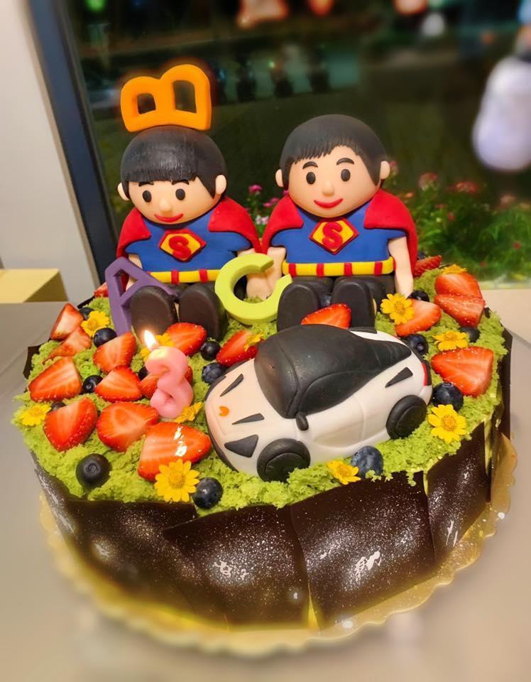 Mỹ nam không tuổi Lâm Chí Dĩnh khoe ảnh sinh nhật cặp song sinh tròn 3 tuổi - Hình 2
