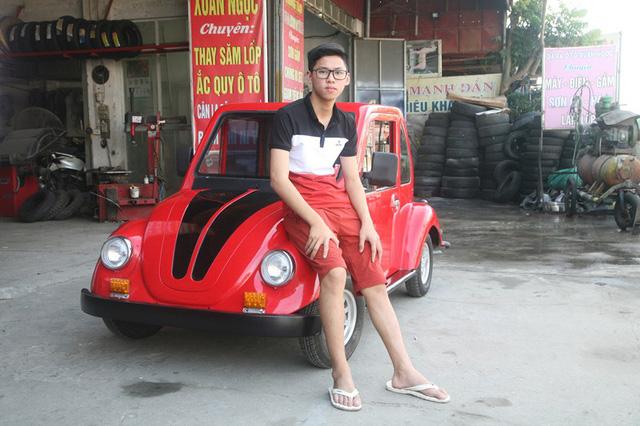 Nam Định: Nam sinh lớp 11 lắp ráp ô tô chạy bằng năng lượng mặt trời - Hình 1