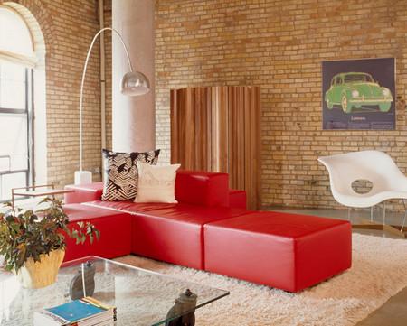 Phòng khách mùa đông ấm áp với gam màu đỏ - Hình 8