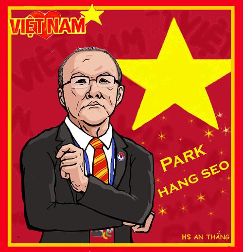 Những ảnh hài hước về HLV Park Hang-seo - Hình 2