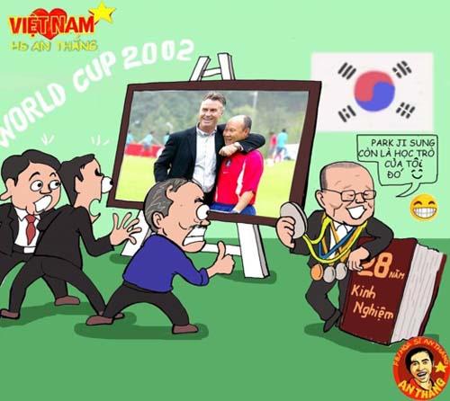 Những ảnh hài hước về HLV Park Hang-seo - Hình 1