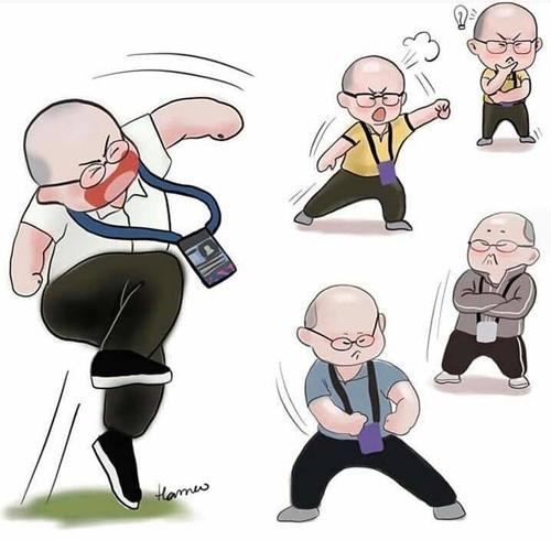 Những ảnh hài hước về HLV Park Hang-seo - Hình 11