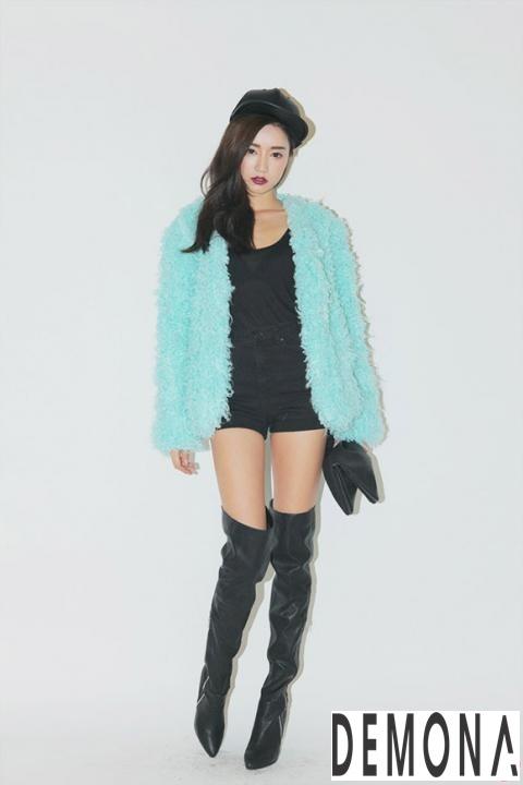 áo Khoác Lông Thú Nữ đẹp Của Sao Hàn Quốc Thu đông Thời Trang