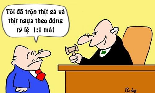 Trưa cười: Thẩm phán choáng váng với công thức bán thịt của bị cáo - Hình 1