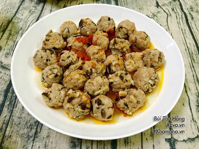 Bữa tối hấp dẫn với cá một nắng chiên, thịt băm viên sốt nấm