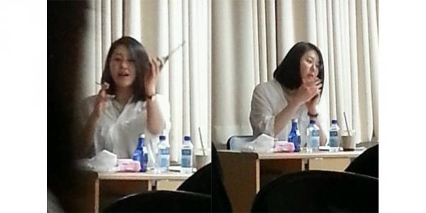 Go Hyun Jung bị sinh viên &'tố' hút thuốc trong lớp giảng đại học - Hình 2