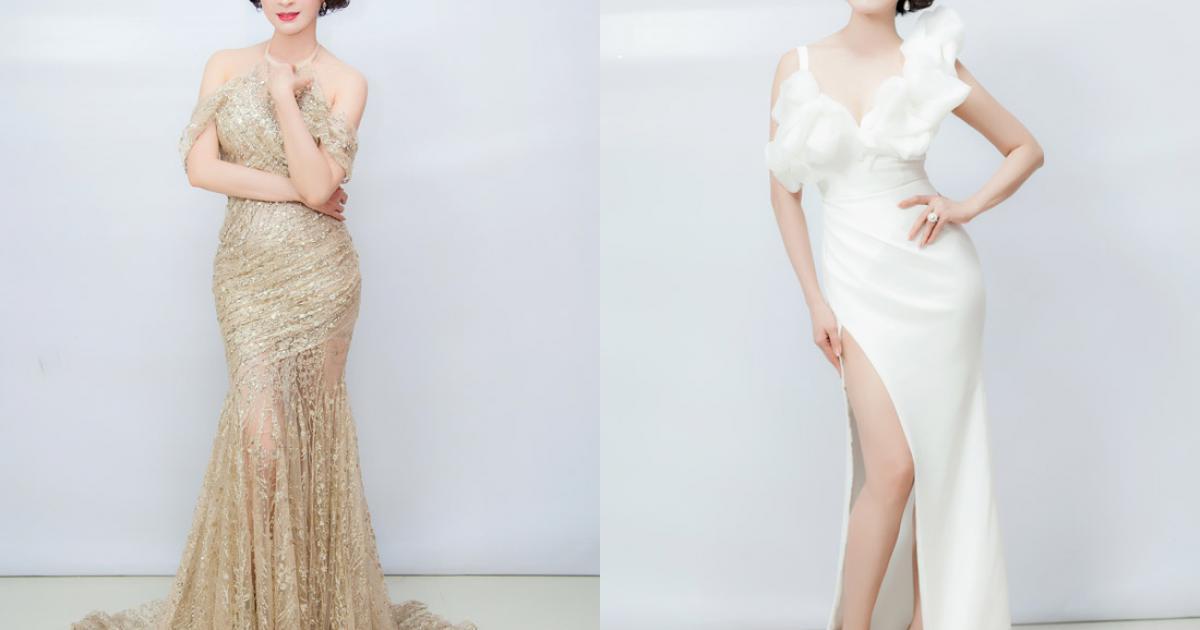Thanh Mai thay 6 bộ váy để quay hình trong cả ngày