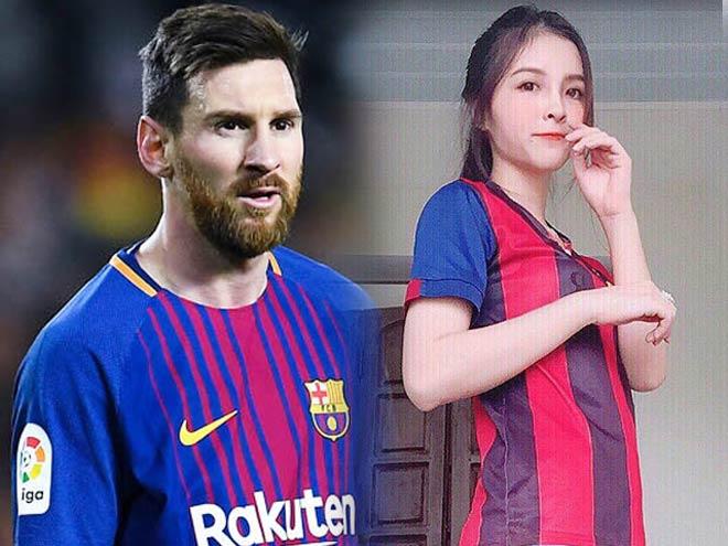 """dan mang 5d13d3 Dân mạng """"bấn loạn"""" vì nữ sinh Hà Nội đẹp như Tây lại mê Messi điên đảo"""