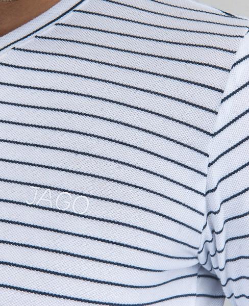 Áo thun Jago tay dài cổ tim AT014 - Hình 1