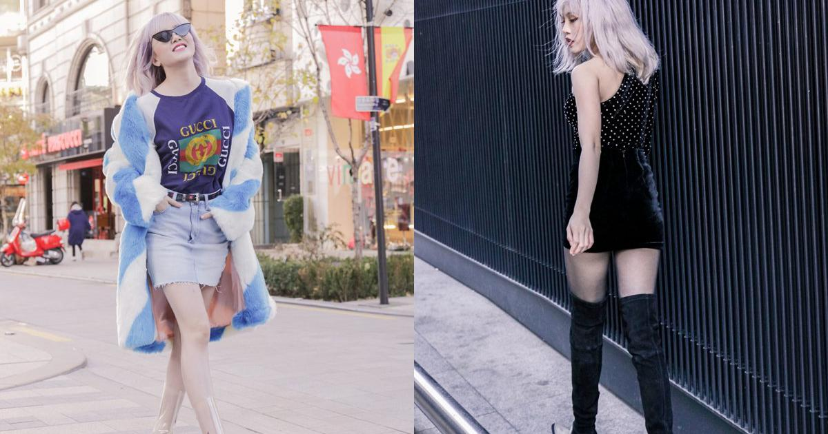 """""""Bạn gái Sơn Tùng"""" khoe chân dài thẳng tắp với váy ngắn"""