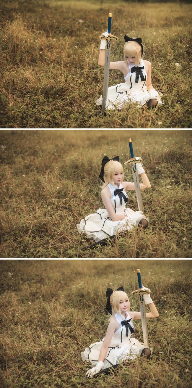 Ngất ngây cosplay Saber cực dễ thương với khuôn mặt búng ra sữa