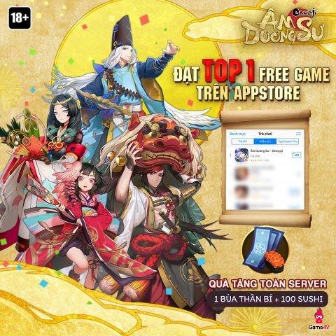 Sau 3 ngày ra mắt, Âm Dương Sư đạt mốc 100.000 lượt tải, đứng top 1 BXH miễn phí App Store - Hình 2
