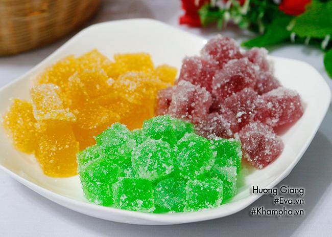 [Chế biến] - Kẹo dẻo trái cây 3 màu siêu ngon cho bé ngày Tết