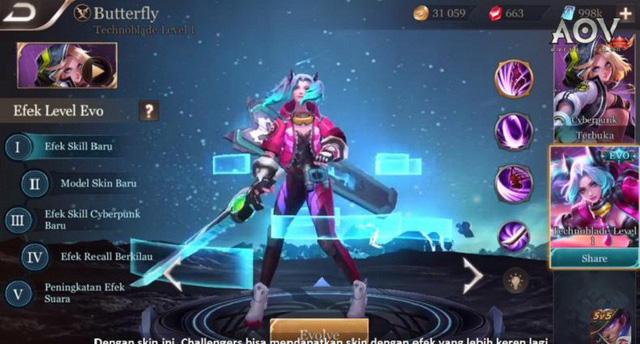 Liên Quân Mobile: Server Indonesia tặng miễn phí đá tiến hóa Butterfly cho game thủ - Hình 1