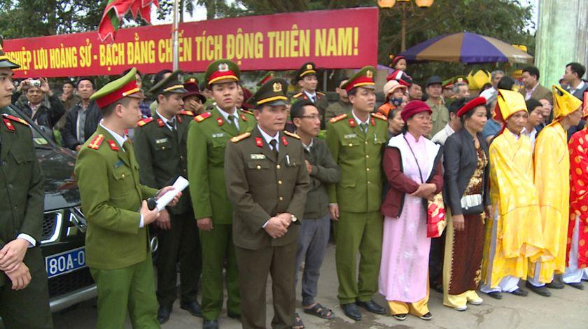 Thắt chặt an ninh tại lễ hội đền Trần Thái Bình - Hình 1