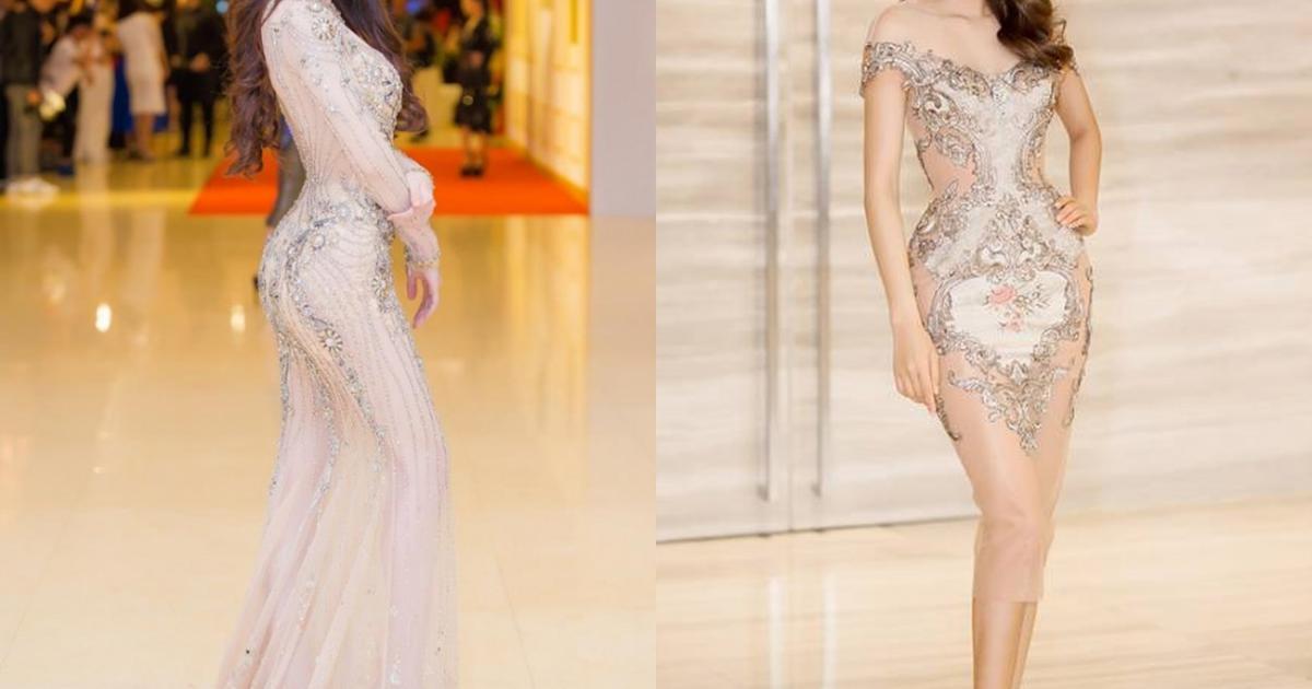 """Váy màu nude dễ mắc lỗi phản cảm của Elly Trần, """"bé heo"""" Minh Hằng"""
