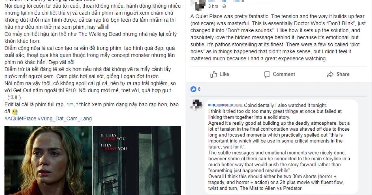 """Khán giả Việt nín thở với phim kinh dị hot nhất hiện nay - """"A Quiet Place"""""""