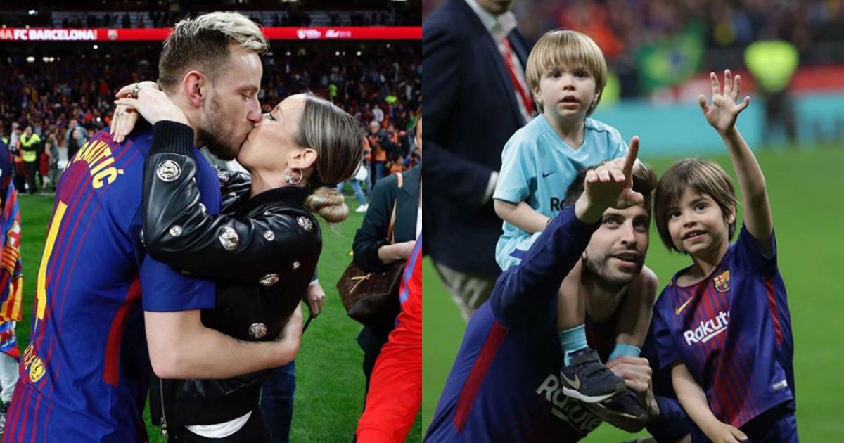 Messi hôn vợ 'quên trời đất' sau khi vô địch Cup nhà vua