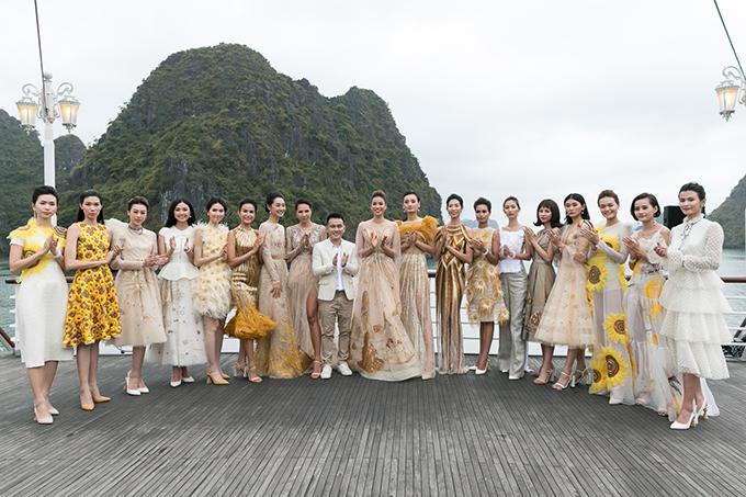 Phạm Hương hoá nữ thần trong show diễn của Lê Thanh Hoà - Hình 2