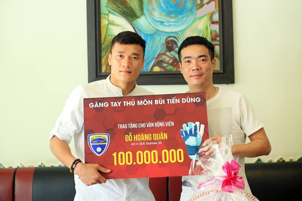 Tặng 100 triệu đồng giúp nhà vô địch SEA Games chữa ung thư, Bùi Tiến Dũng nhận lời khuyên quý giá - Hình 1