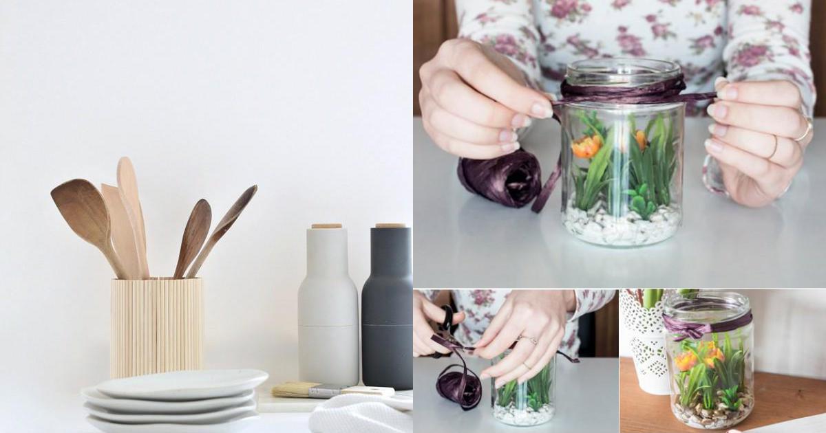 5 cách tái chế lọ thủy tinh đơn giản thành đồ dụng tiện ích cho ngôi nhà