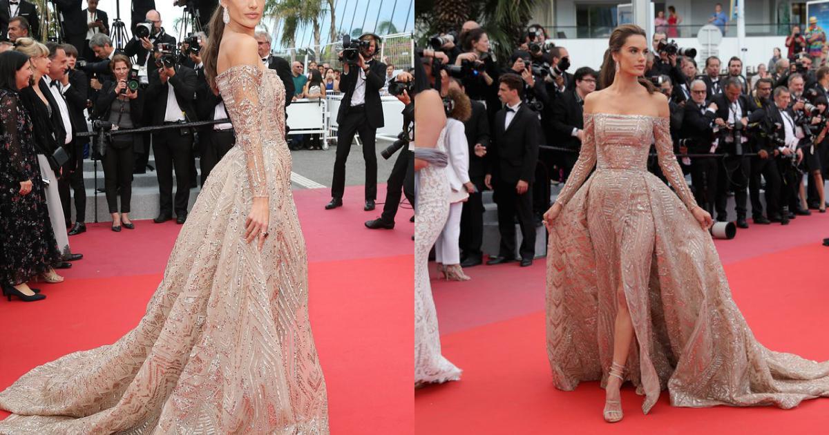 Alessandra Ambrosio đẹp thanh lịch tại Cannes