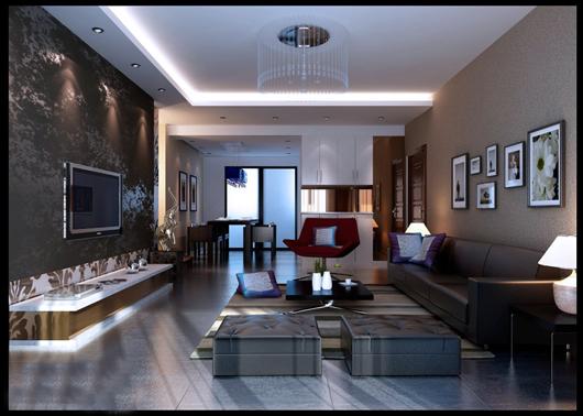 Bí quyết chọn nội thất màu nâu cho phòng khách - Hình 2