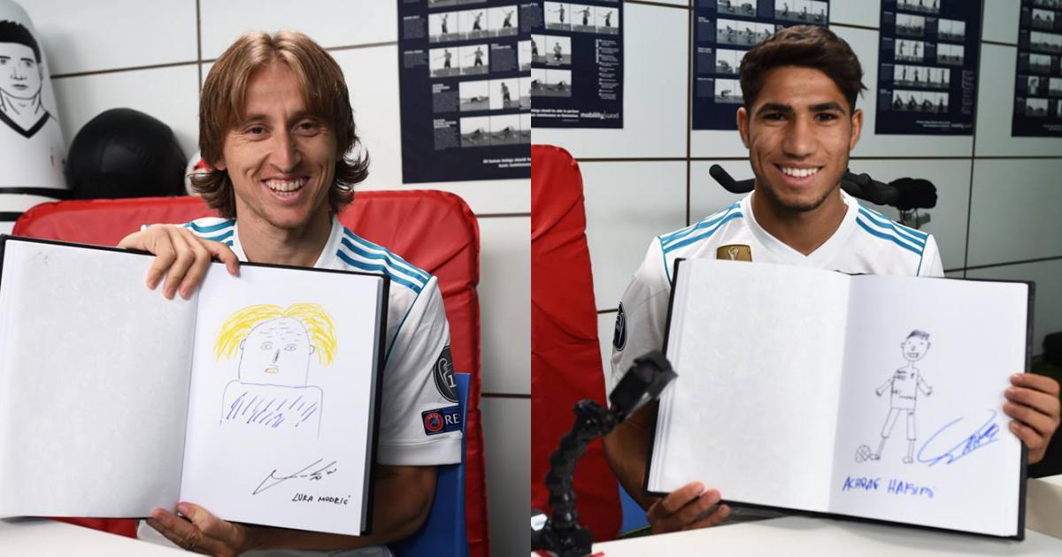 Dàn sao Real Madrid gây cười với màn tự họa bản thân