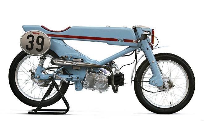 Độc đáo Honda Super Cub cafe racer siêu lạ - Hình 1