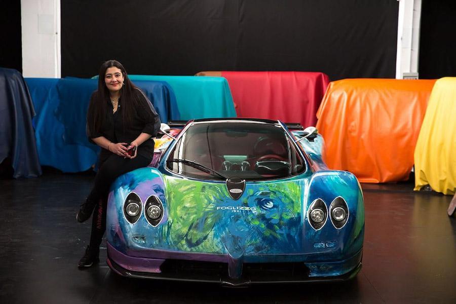 Siêu xe Pagani Zonda trở thành tác phẩm nghệ thuật di động - Hình 1