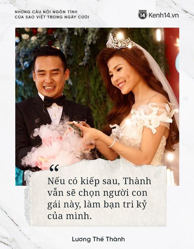 """""""Lụi tim"""" với những câu nói đậm chất ngôn tình của nửa kia dành tặng cho sao Việt trong ngày cưới - Hình 10"""