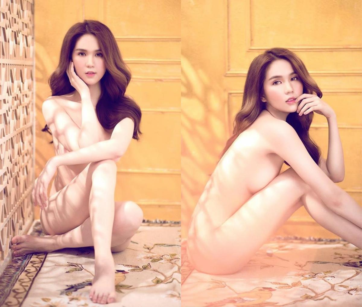 Choáng váng với những bộ ảnh khỏa thân trần như nhộng của Ngọc Trinh - Hình 2