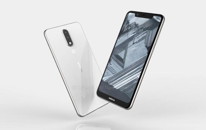 Ảnh Nokia 5.1 Plus xuất hiện, camera kép và màn hình tai thỏ - Hình 1