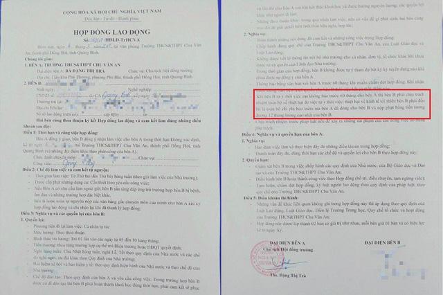 Quảng Bình: Giáo viên phải đền 60 triệu đồng nếu nghỉ việc không báo trước… 5 năm - Hình 1