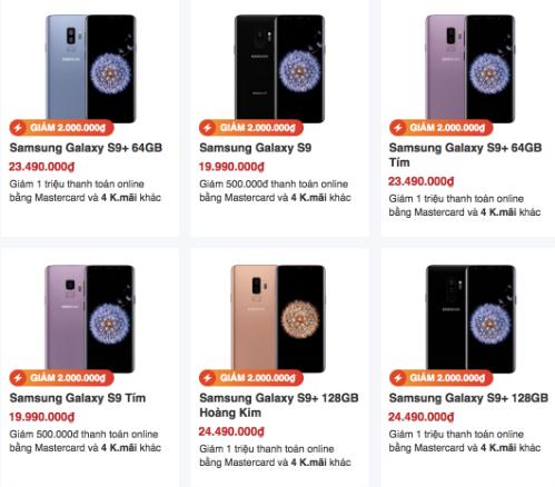 Giá Galaxy S9, S9+ xuống thấp ở Việt Nam - Hình 2