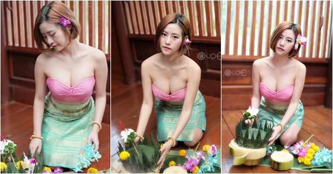 Mỹ nữ bổ dừa, chặt thịt lợn Thái Lan mê mệt áo dây, áo quây gợi cảm - Hình 5
