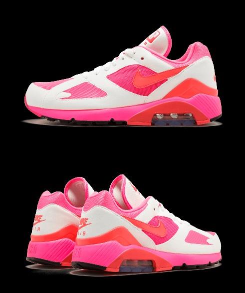 Nike Air Max 180 ra mắt phiên bản màu hồng đẹp ngẩn ngơ