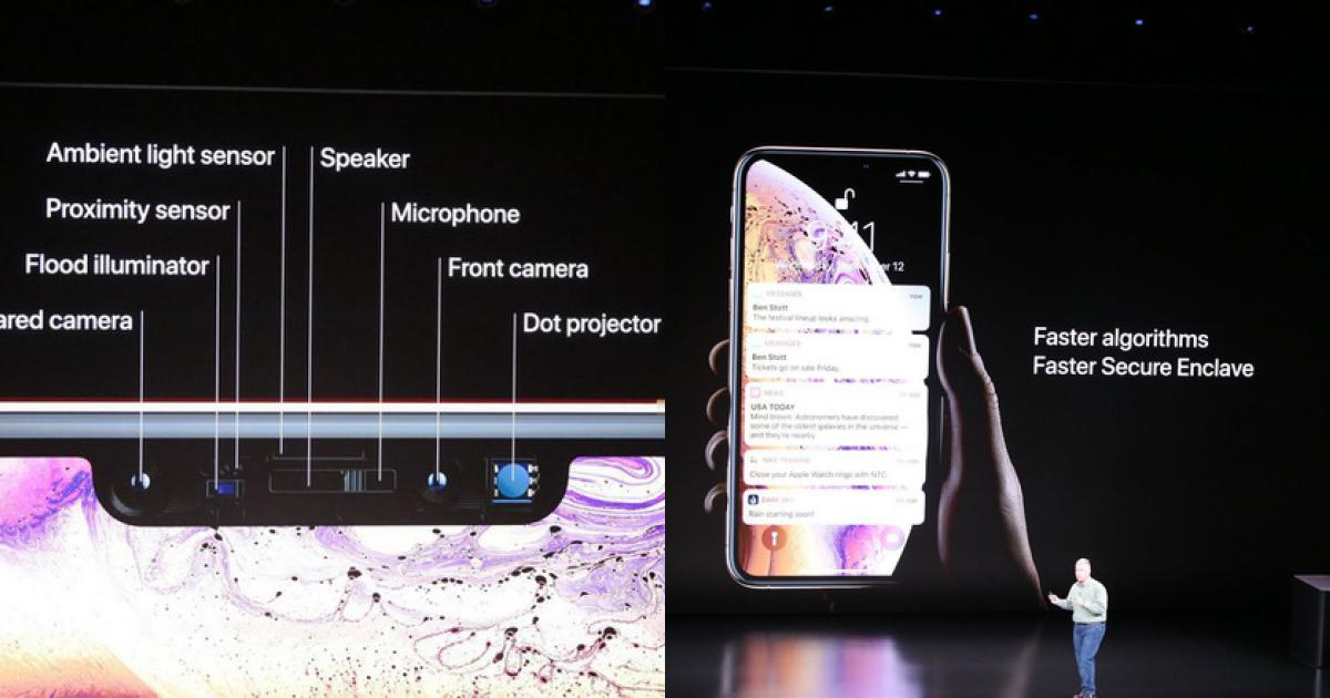 Image result for iphone xs max face id