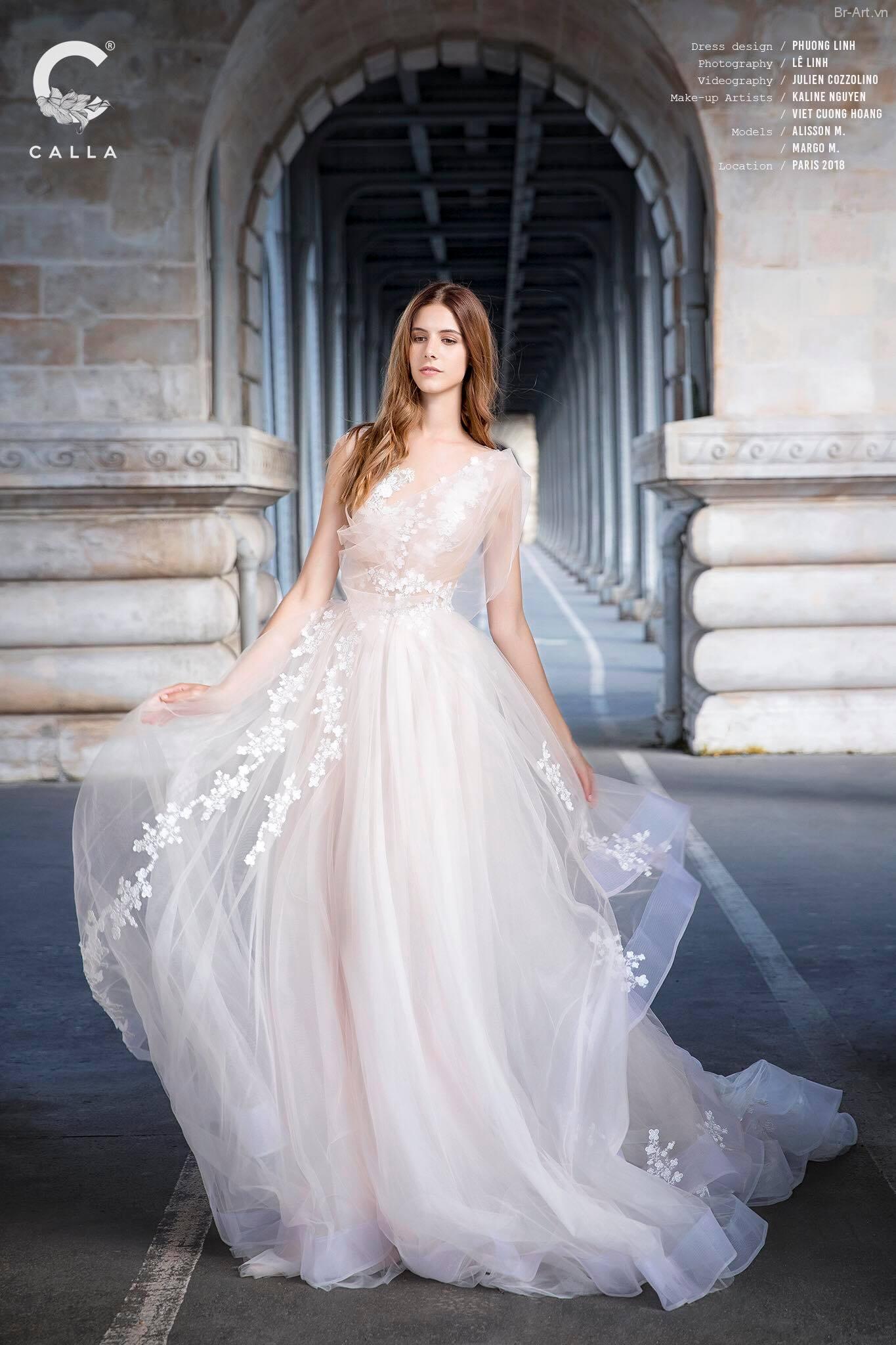 Thiếu nữ Pháp đẹp rạng ngời trong mẫu áo cưới - Hình 5