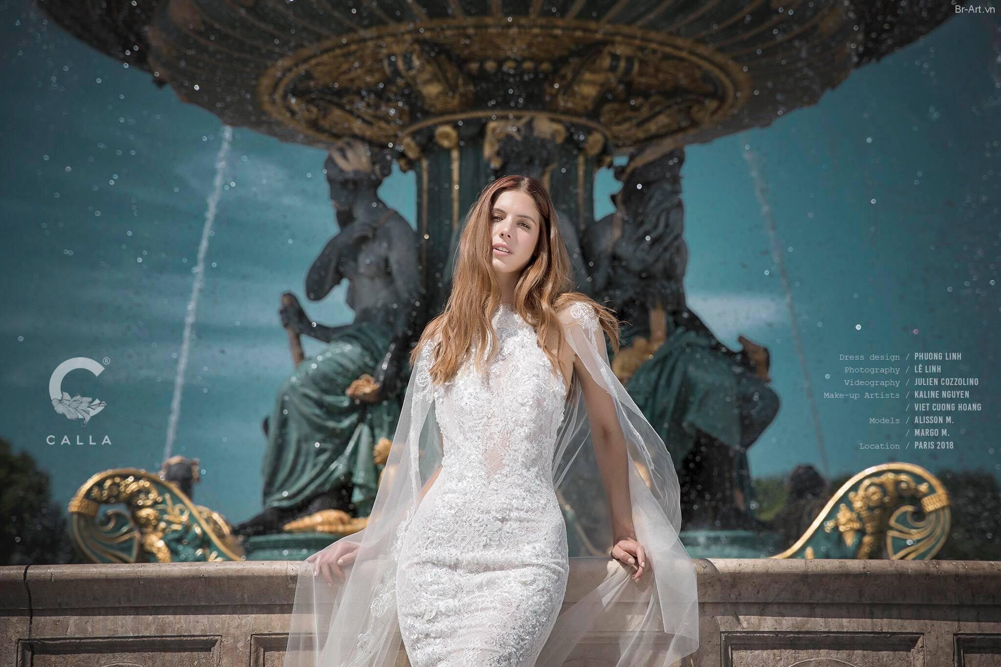 Thiếu nữ Pháp đẹp rạng ngời trong mẫu áo cưới - Hình 18