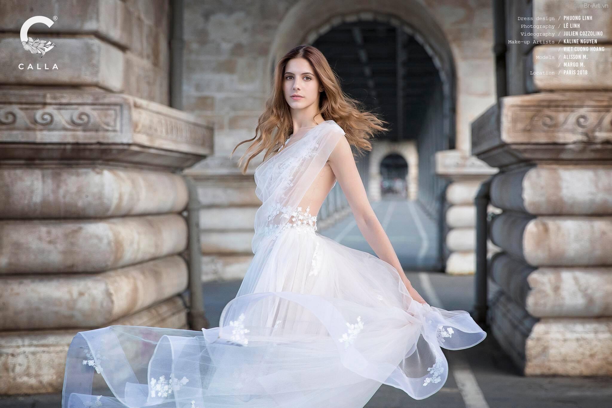 Thiếu nữ Pháp đẹp rạng ngời trong mẫu áo cưới - Hình 3