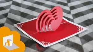 Cách làm thiệp có hình trái tim 3D bên trong xinh xắn - Hình 1