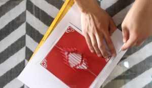 Cách làm thiệp có hình trái tim 3D bên trong xinh xắn - Hình 7