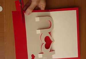 Cách làm thiệp hình trái tim 3D - Hình 8